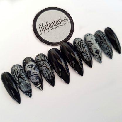 Halloween press on nails